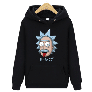 Rick and Morty Hoodie Zwart