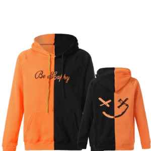 Lil peep Be Happy Hoodie Black Orange