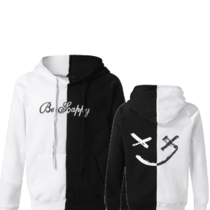 Lil peep Be Happy Hoodie Black White